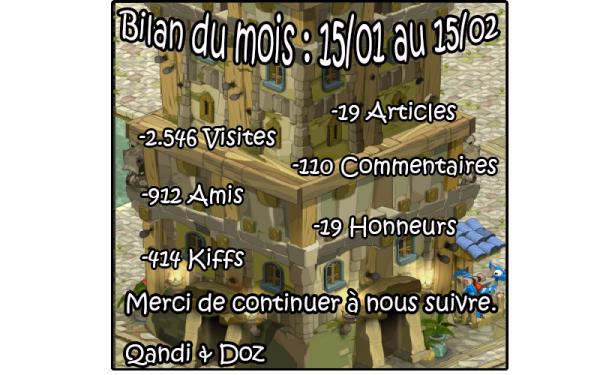 Bilan Blog : Mois 3 (15/01-15/01)