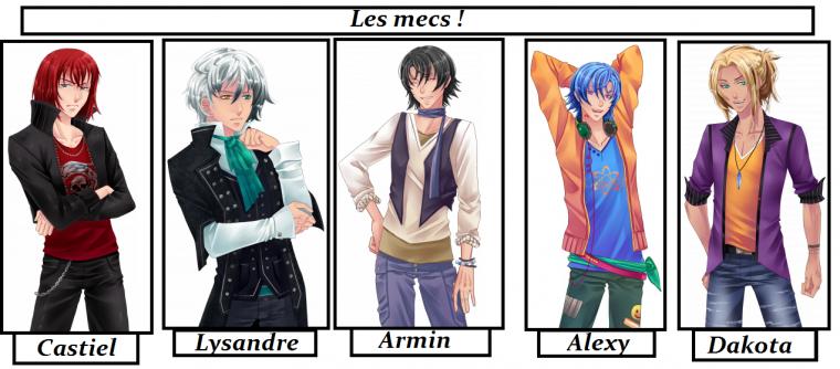 """Présentation des personnages, partie 3: """"Les mecs !"""""""
