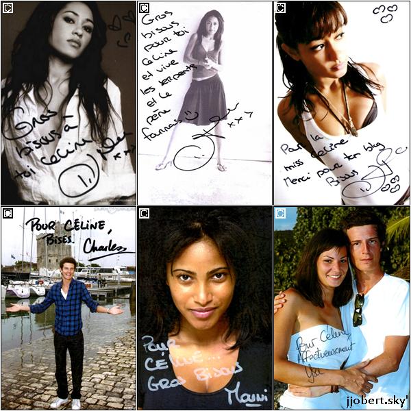 Mes autographes des acteurs de Foudre