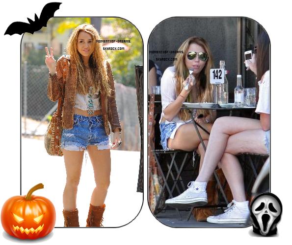 08.10.2010. Miley a été vu à Toluka Lake puis allant dejeunez chez Joan's On Third.Ton avis ?