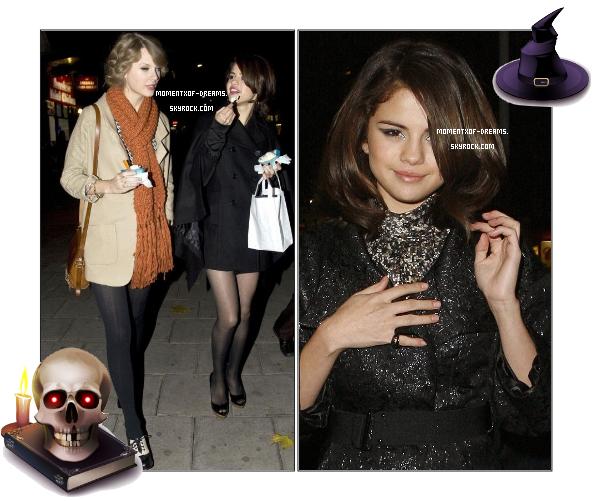 20.10.2010. Selena dînant à un restaurant à Londres.Ton avis ? . 21.10.2010. Selena et Taylor Swift ont été vus allant s'acheter une glace toujours à Londres.Ton avis ?