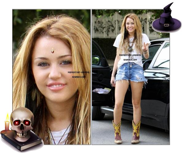 . 23.10.2010. Miley à  Los Angeles. Toujours avec son bindi.Ton avis ?