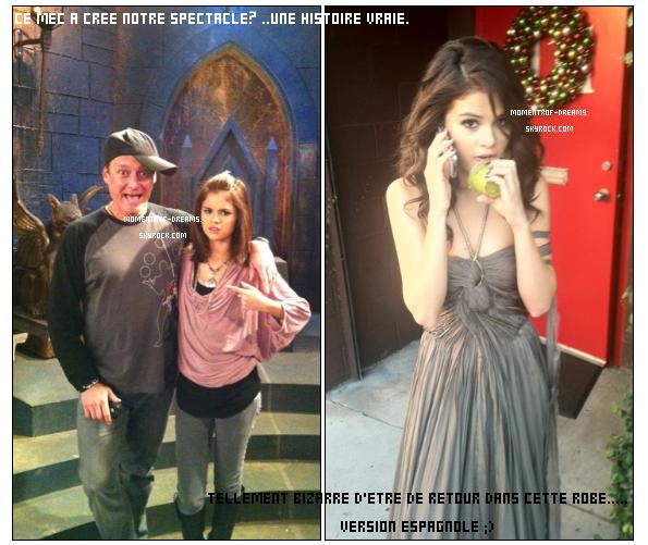 """TWITTER : Selena a posté deux nouvelles photos sur son twitter. Ton avis ? . On peut la voir avec surement le monsieur qui a crée les WOWP. Puis dans la robe qu'elle porte dans son clip """"A Year Without Rain"""" pour tourner la version espagnole.Ton avis ?"""