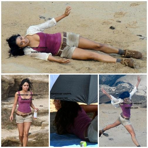 12.11.2010. De nouvelles photos de Vanessa sur le tournage de Journey 2 : The Mysterious Island.Ton avis ? .