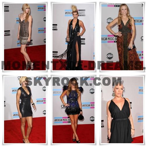AMERICAN MUSIC AWARDS 2010 Quelle est ta tenue préférée ?