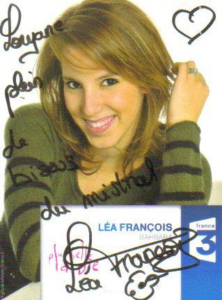 Dédicace de Léa François