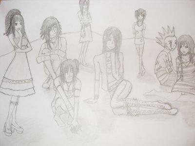 alors la j'ai fait plusieur perso sur un dessin (c'etai une premiere avec autan ^^