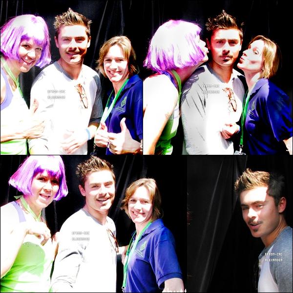 Le   03 Avril   2011  :  Zac efron  et son Frère Dylan,  étaient au  Mission Plaza à San Luis Obispo ( la ville ou zac est né) ils l'ont été pour la cause de l'autisme . Zac s'est rasé la barbe .. reste plus que la moustache ;P . J'adore les photos!