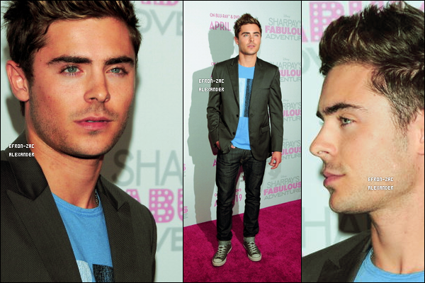 Le 06 Avril  2011  : Zac posant avec Ashley Tisdale à la première de Sharpay's Fabulous Adventure au Soho House.