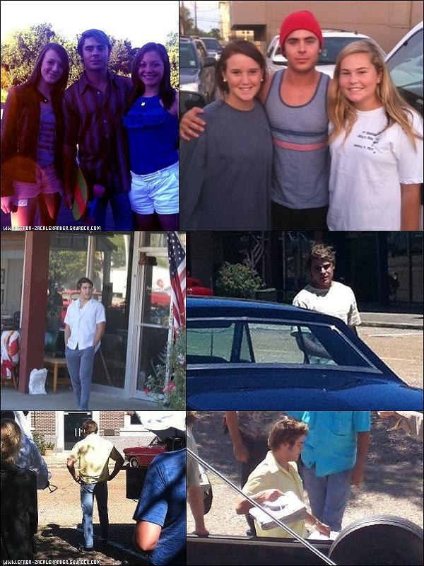 __Movie Productions  Le 5-10 Septembre  : Voici des photos de zac Efron , toujours sur le set du tournage de son film , et avec ses fans.