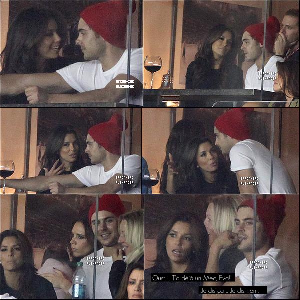 ____Apparence   03.11 : Zac , Eva Longoria  , Victoria Beckham ont été a un match de football, l'équipe des LA Galaxy contre New York Red Bulls.