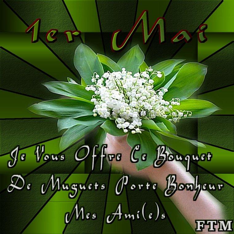 """✠... 1er Mai """" Bonne Fête Du Muguet Et Du Travail """" …✠"""