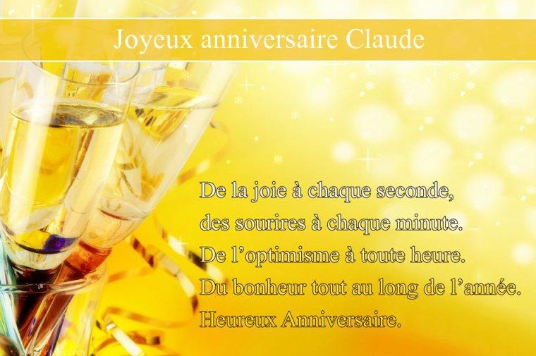 ✠... Joyeux Anniversaire Mon Ami Claude …✠