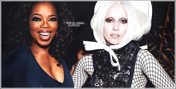 "Lady Gaga le 11 mars dans l'emission ""Oprah's next chapter"""