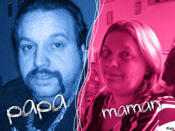 ma maman et mon papa maman tu me manque je t aime