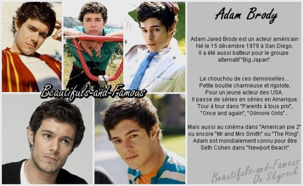 Adam Brody [ Ajout Amis ] __________________________ [ Ajout Favoris ][  Newsletter ]