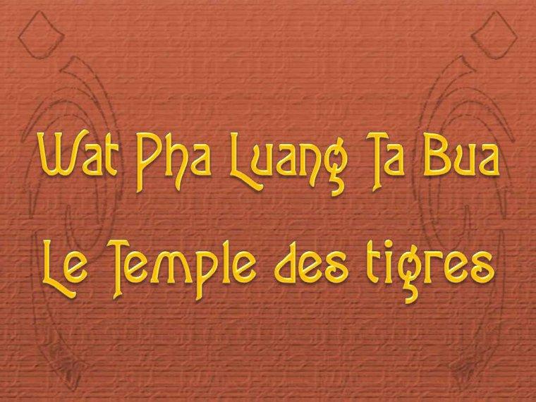 LMP LE TEMPLE DES TIGRES