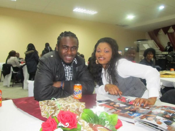 Ma big sister with me just chillin at chuurch