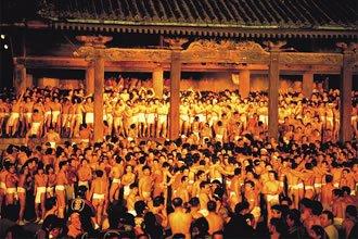 Le samedi de la 3ème semaine de Fevrier ~ Saidai-ji Eyo matsuri, Fête de la nudité (Saidai-ji)