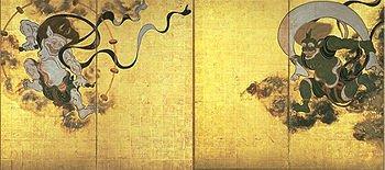 Fūjin et Raijin, dieux du vent et du tonnerre