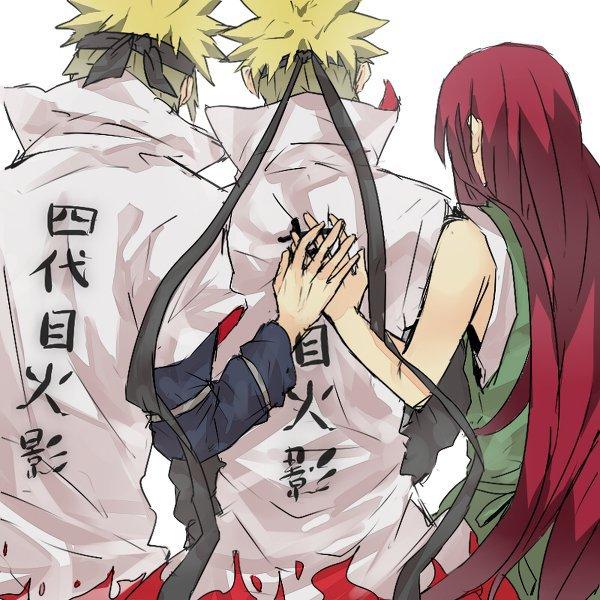 Minato, Naruto & Kushina