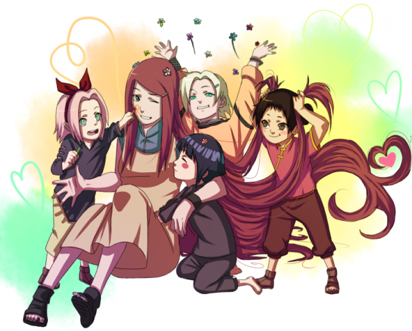 Sakura, Kushina, Hinata, Ino & Tenten