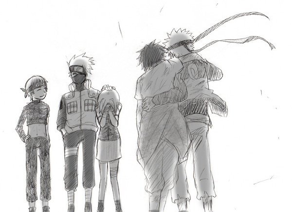 Saï, Kakashi, Sakura, Sasuke & Naruto