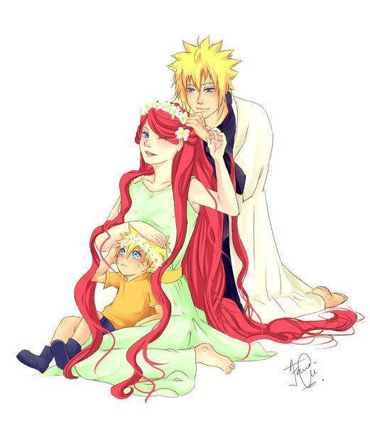 Naruto, Kushina & Minato
