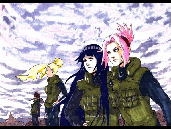 Sakura, Hinata, Ino & Tenten