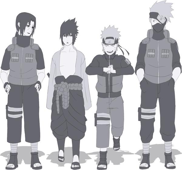 Itachi, Sasuke, Naruto & Kakashi