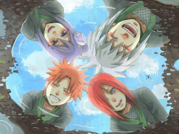 Konan, Jiraya, Yahiko & Nagato