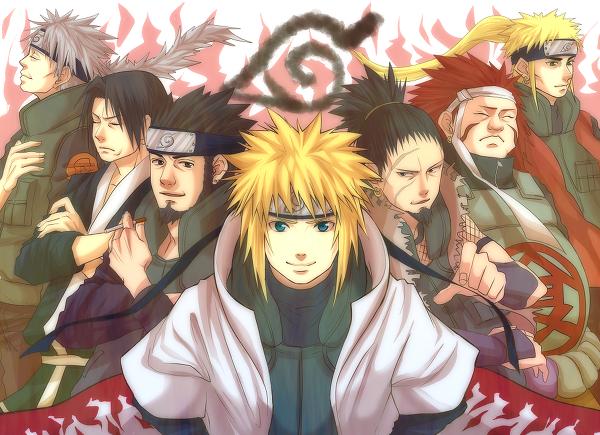 Sakumo, Fugaku, Asuma, Minato, Shikaku, Chôza & Inoichi (fathers)