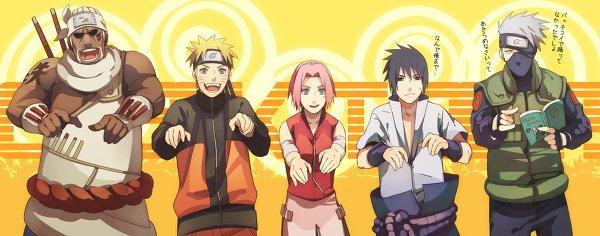 Bee, Naruto, Sakura, Sasuke & Kakashi (rap time)