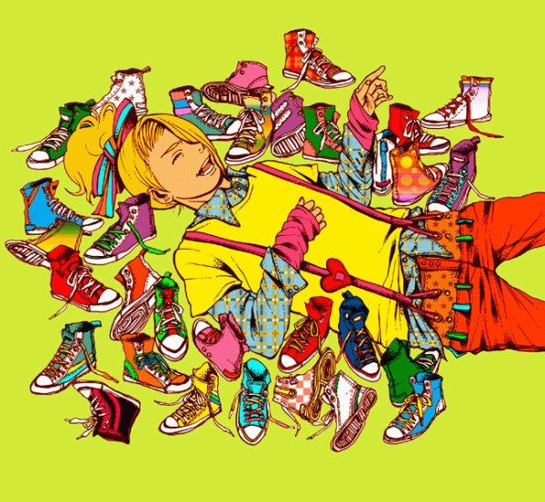 Deidara (& a lot of shoes)