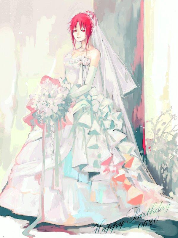 Karin (in a wedding dress)
