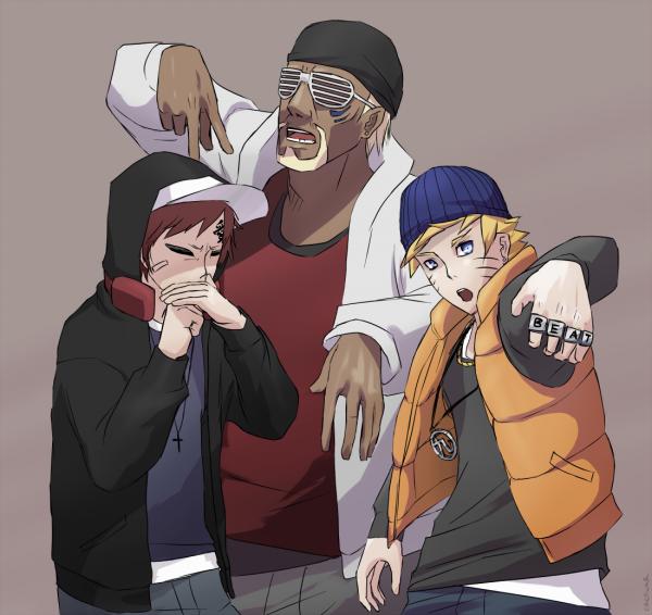 Gaara, Killer Bee & Naruto