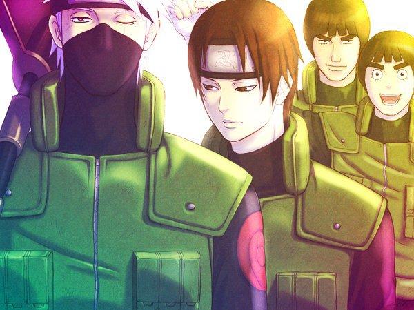 Kakashi, Saï, Gaï & Lee