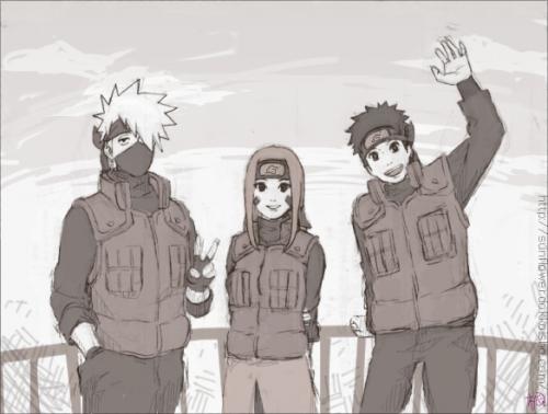 Kakashi, Rin & Obito