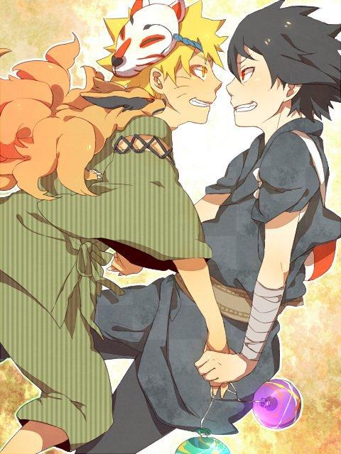 Naruto & Sasuke (& little Kyuubi)