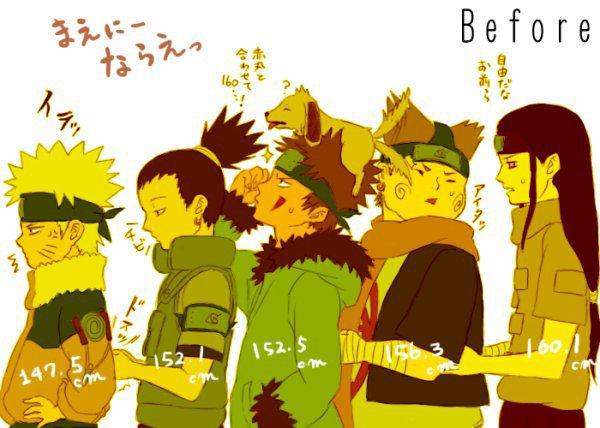 Naruto, Shikamaru, Kiba, Chôji & Neji
