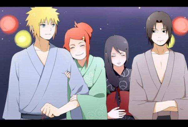 Minato, Kushina, Mikoto & Fugaku