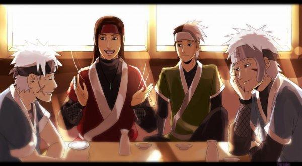 Kawarama, Hashirama, Itama & Tobirama