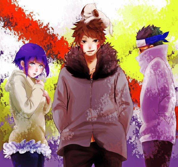 Hinata, Kiba, Akamaru & Shino