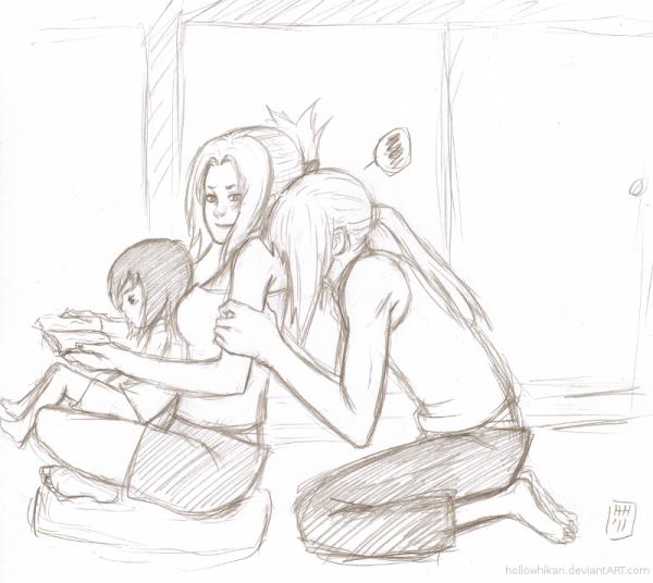 Shizune, Tsunade & Dan