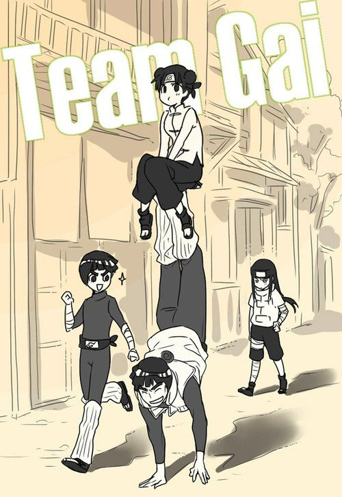 Tenten, Lee, Gaï & Neji