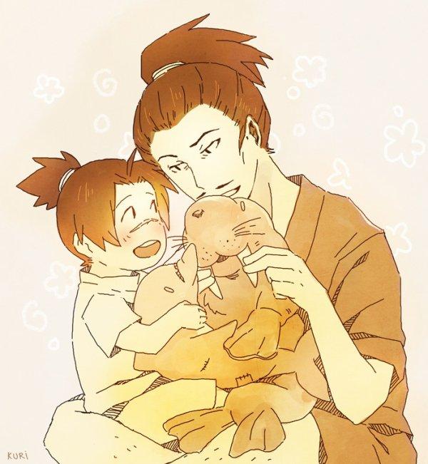 Iruka & his father