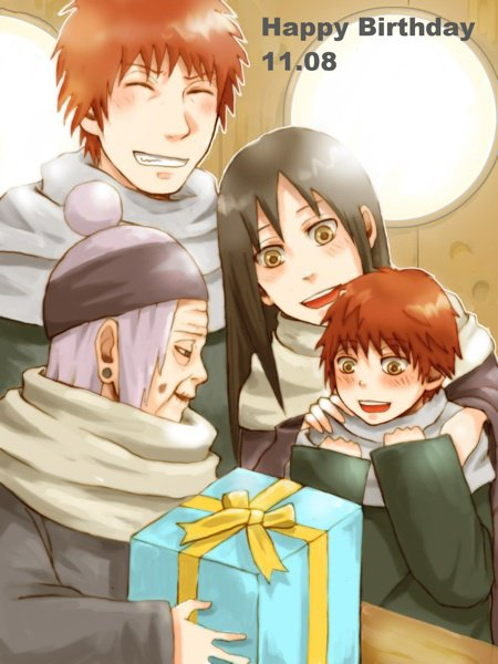 Chiyo, Sasori & Sasori's parents