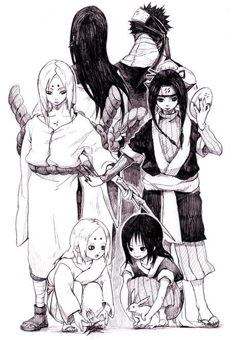 Orochimaru, Zabuza, Kimimaro & Haku