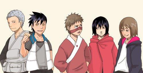 Ibiki, Asuma, Raidô, Hayate & Genma