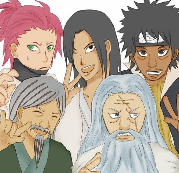 1st Kazekage, Hashirama, 1st Raikage, 1st Tsuchikage & 1st Mizukage